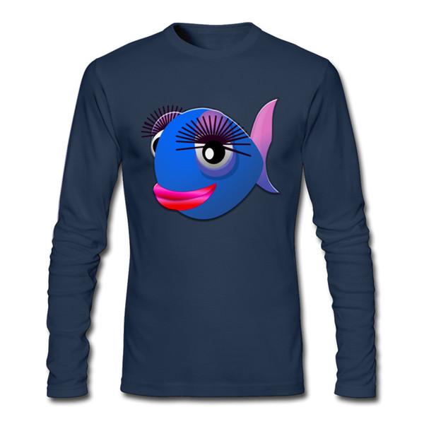 Новые горячие с длинным рукавом футболка красочные рыбы печатных рубашка размер S до 6 XL выбрать открытый туалетный