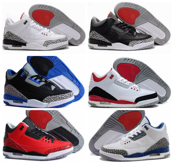cheap USA stockist New High quality 3s 3 Black White Cement GS women basketball shoes Infrared Wolf Grey cheap sneakers With Box cheap sale popular the cheapest online OmeoRSnBp