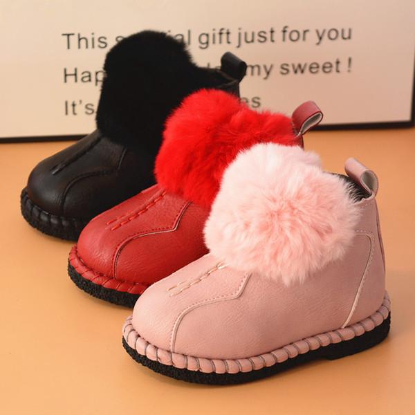 Acheter 3 Couleurs 21 25 Enfants Enfants Neige Bottes Chaudes Filles Coréen Fourrure Hiver Chaussure Moelleux Chaussures Bébé De $20.31 Du Wy249900520