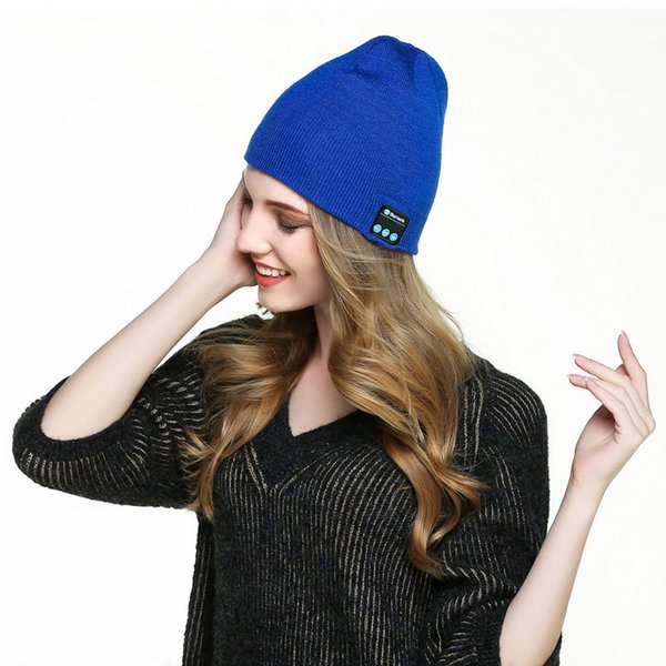 2018 New Bluetooth Music Hat Soft Warm Beanie Cap with Stereo Headphone Headset Speaker Wireless Microphone of Chirstmas gift free shipping