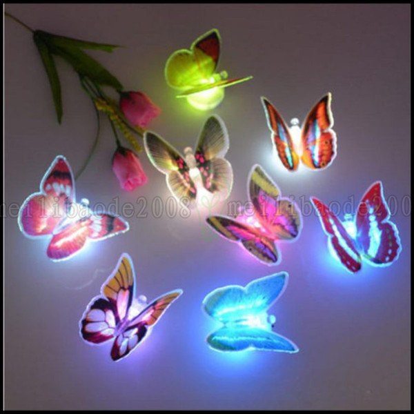 best selling Colorful Changing Butterfly LED Night Light Lamp Home Room Party Desk Wall Decor LLWA199