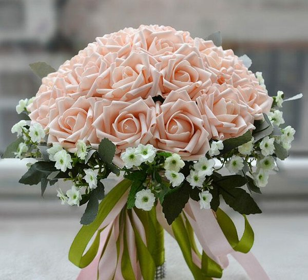 Pe Rose Flowers Bridal Bouquet Wedding Hand Made Bulk Flower Large ...