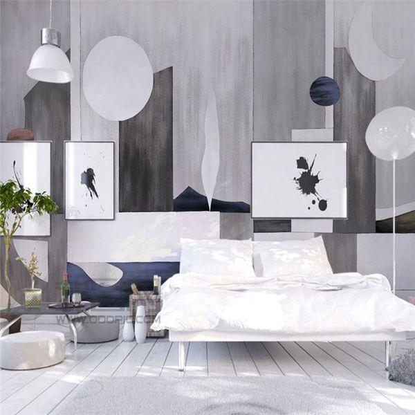 Europäische 3D 3D Tapete Geometrische Tinte Wandmalereien Wohnzimmer TV  Sofa Hintergrund Tapete Schlafzimmer Dekoration Malerei