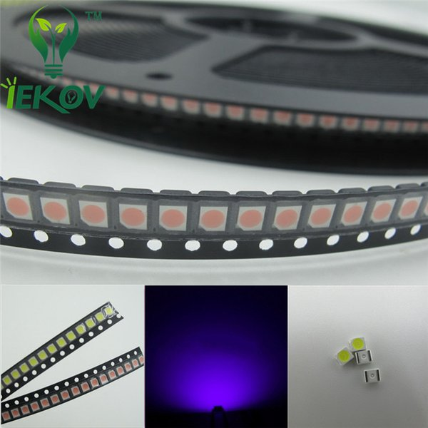 5000pcs PLCC-2 1210 3528 Purple/UV LED SMD Ultra Bright Light Emitting diodes 3.0-3.2V High quality SMD/SMT Chip lamp beads
