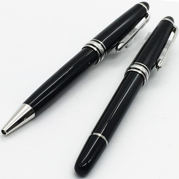 top popular Luxury Pen #163 Classique Black Resin ballpoint pen , office suppliers mb rollerball pen with serial number 0.7mm refill 2019