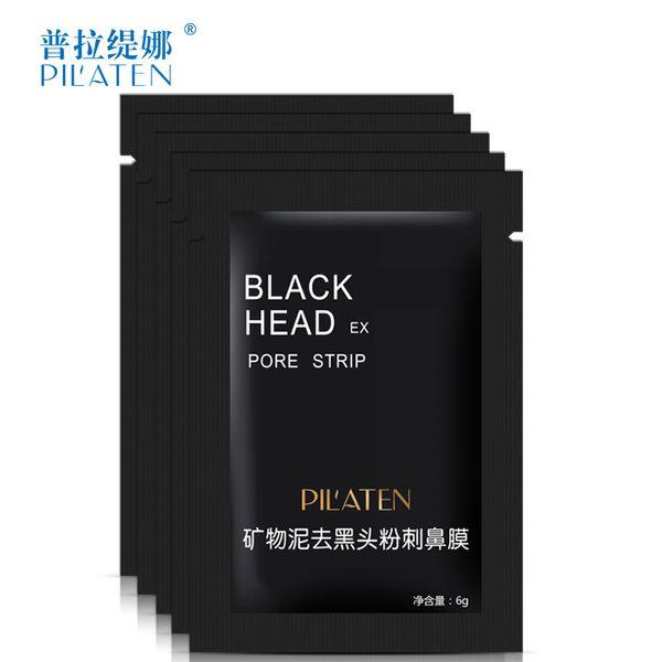 Wholesale 1000pcs/lot Beauty PILATEN Minerals Mud Nose Blackhead Remover Mask 6g Pore Cleaner Nose Black Head EX Pore Strip