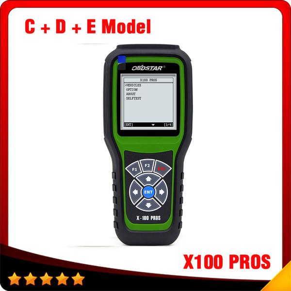 2016 Top vente OBDStar programmeur principal automatique X100 PROS modèle C-D + E modèle x-100 outil de correction du compteur kilométrique livraison gratuite