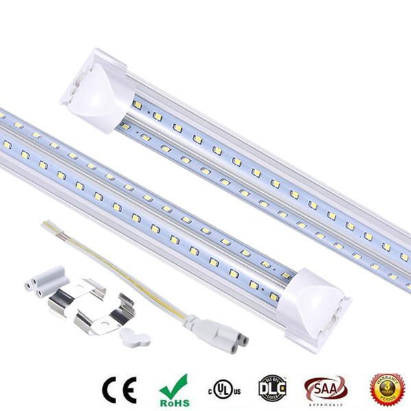 6FT V-Shaped T8 1.8m 45W Cooler Door Led Tubes T8 Integrated Led Tubes Double Sides SMD2835 Led Fluorescent Lights 85-265V CE UL
