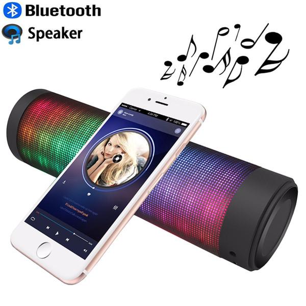 Altoparlanti Bluetooth- Altoparlanti portatili wireless con pulsanti a sfioramento / 6 modalità di visualizzazione visiva a luce LED / microfono incorporato / vivavoce