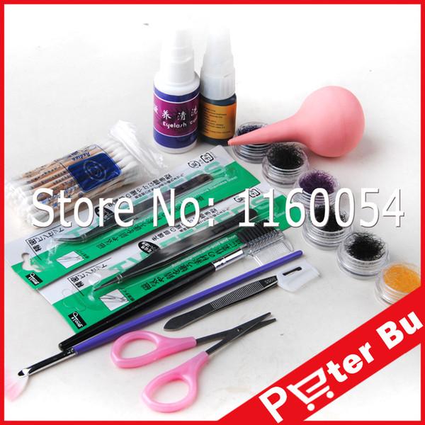 Wholesale-2016 Professional Makeup False Eyelash Extension Cosmetic Set Kit Eye Individual Hand Made Natural Long Lashes