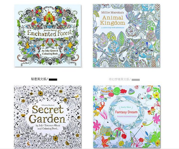 Acheter 4 Design Secret Garden Coloring Book Kids Adultes Cadeaux Dessin Et Coloriage Livre Relief Stress Kill Time Graffiti Painting Book De 2 42 Du