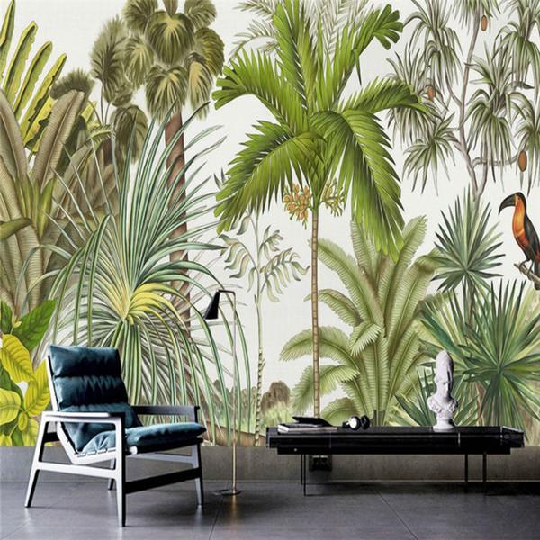 Retro Tropical Rain Forest Wallpaper Southeast Asia Plant Dead Tree Custom Murals Living Room Sofa Background Wall Wallpaper Murals Natural Wallpapers