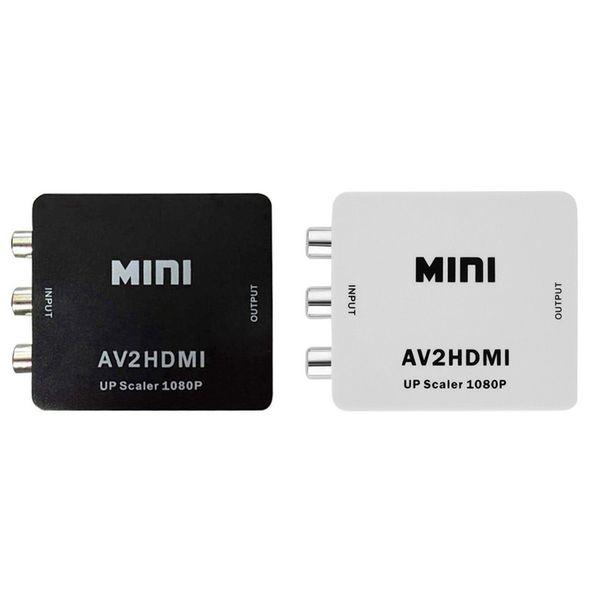 1080P HDMI to AV Converter RCA CVBS Audio Video Adapter For HDTV 165 Chip Mini HMDI2AV