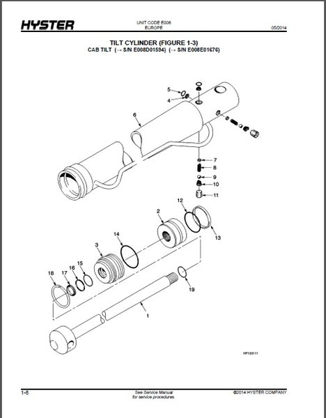 Hyster Forklift Parts Diagram