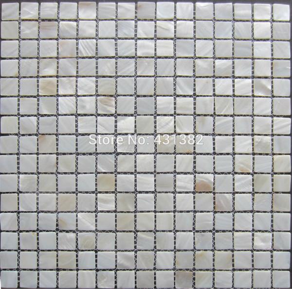 Acquista Spedizione Gratuita Piastrella Mosaico Bianco Piastrelle In  Madreperla; Piastrelle Cucina Bianca; Tessera Di Mosaico Di Conchiglia  Naturale ...