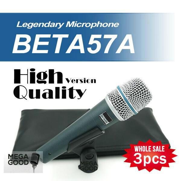 microfono Wholesale 3pcs/lots BETA57 Professional BETA57A Super Cardioid Handheld Dynamic Wired Microphone Beta 57A 57 A Mic free mikrafon