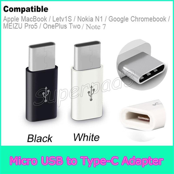 best selling Mini Micro USB Female to Type-c Male Cable Adapter Samsung Note 7 Mackbook Charge Data Sync Converter For Type C Phone Tablets