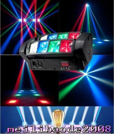 top popular 2016 New Hot Selling 8PCS*3W RGB Mini LED Spider Moving Head Light for Disco,Dj and Small club Lighting FREE SHIPPING MYY 2021