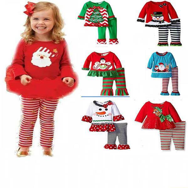 Noël Bonhomme De Neige Costume Pour Bébé Fille Sweat-Set à capuche Tops Tenues Ensembles