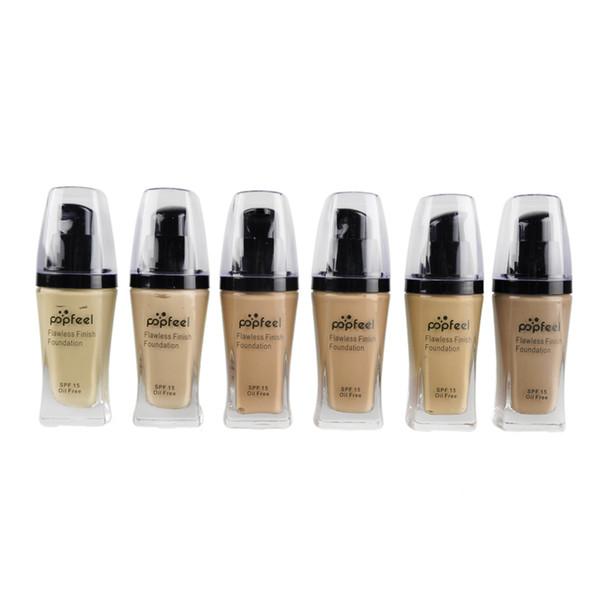 Popfeel Liquid Concealer Foundation Base de acabado impecable Cosmética Popfeel Makeup Makeup Base de 6 colores 10 PCS