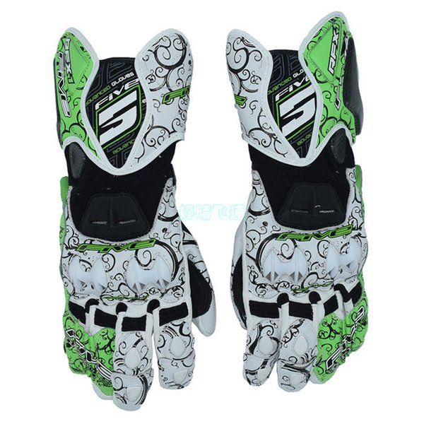 top popular FIVE RFX1 tribal gloves MOTO GP protective motorcycle gloves auspicious clouds racing leather gloves 4 Color 2019