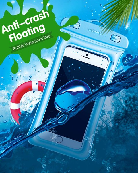 USAMS Ipx8 Waterproof Touchable Pouch Ultra High Quality Smartphone Air Bag  Underwater Phone Bag For Samsung IPhone 5 6 7 Plus Cheap Phone Cases Cool