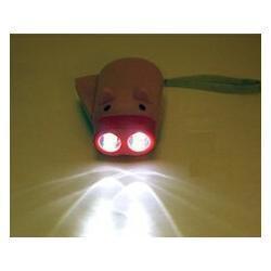 Hand Power Dynamo Piggy Pig Pressing Flashlight Torch Guaranteed