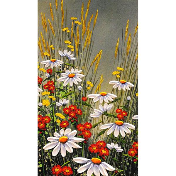 Summer Flowers 100% Full Drill Diamond Painting Diamond Mosaic Rhinestone Cross Stitch Embroidery Handmade Home Decor (Free Shipping)