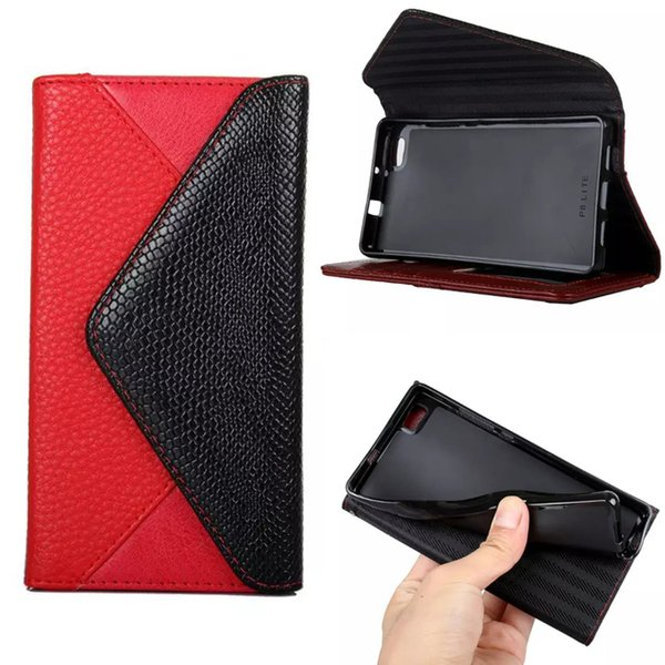 Luxury Leather Flip Cover Photo Frame Stand Wallet Case For Samsung Galaxy Grand Prime G530 Huawei P8lite P9 Envelope Style Phone Bag Case