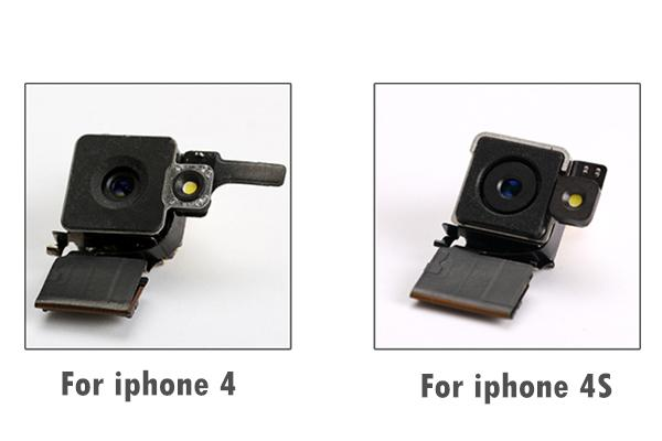 Teste passado original para apple iphone 4 4g 4s traseira módulo de lente da câmera traseira com cabo flex substitui 10pcs lote