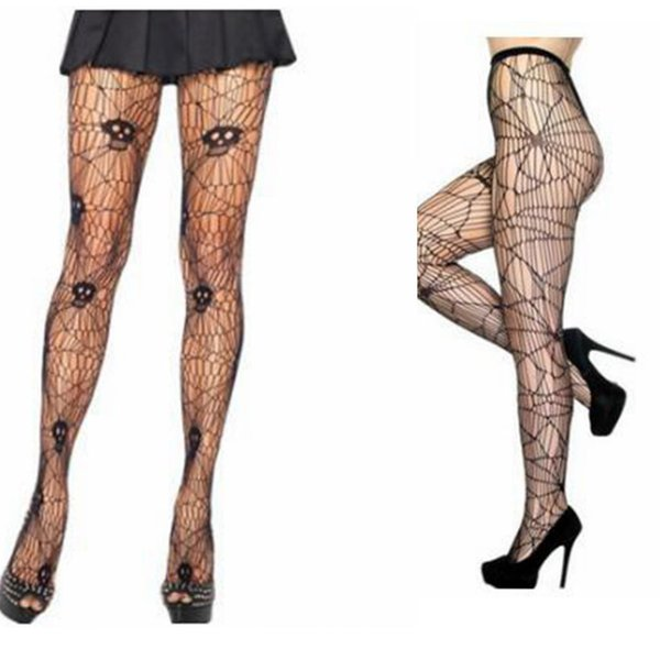 c330ea19fcc7d Spider and Skeleton Printed Tights for Women Pantyhose sexy Stockings for  Party Halloween Stockings Tights pantyhose