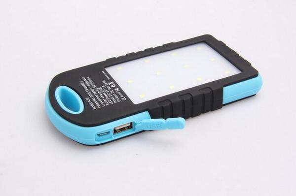 Caricabatterie solare universale 8000mAh Caricabatterie solare Caricabatterie solare solare Caricabatterie solare per la lampada da campeggio con doppio LED USB