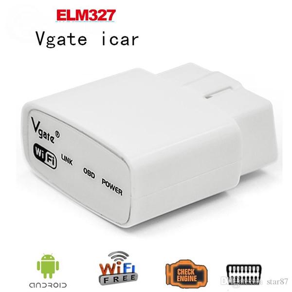 100 PC / Los A + Qualität 2016 ELM327 wifi Ursprüngliche Diagnose von Vgate iCar elm327 WIFI OBDII OBD2 für iPhone IOS Android PC iPad DHL FreeShipping