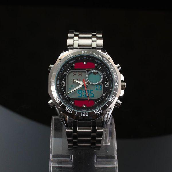 2015 más nuevo diseño de marca Solar Powered LED Digital relojes de pulsera de cuarzo hombres 30M impermeable deportes de moda militar vestido de relojes
