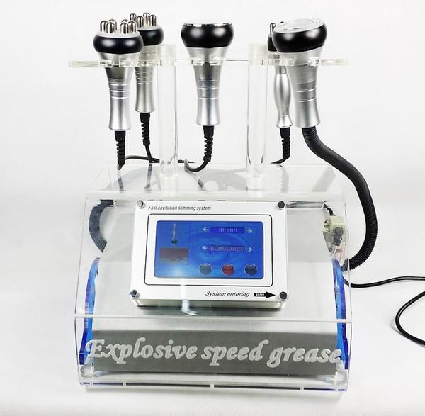 Máquina de cavitación ultrasónica portátil Liposucción Adelgazamiento Tripolar Fourpolar Sixpolar RF Radio Frecuencia Cavitación de grasa Pérdida de peso