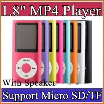 best selling 1.8 inch Screen 4th mp3 oimp4 Player with card slot radio Voice Recorder 6 colors B-MF