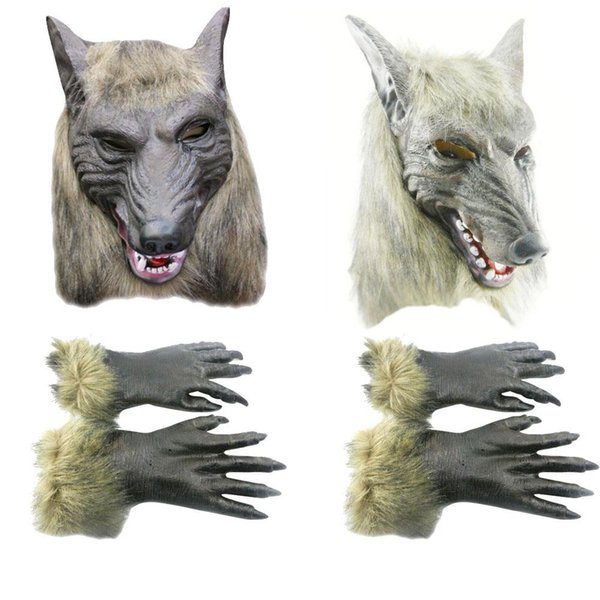 Halloween Cosplay Realistic Werewolf Adult Wolf Masks Latex Costume Prop C00121 OST