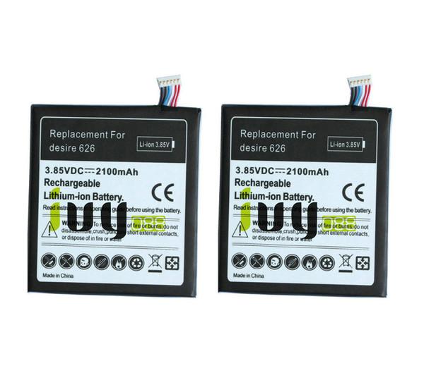 best selling 2pcs lot 2100mAh B0PKX100 Replacement Battery For HTC Desire 626 D626T D262W D262D Batteries Batteria Batterij Batterie