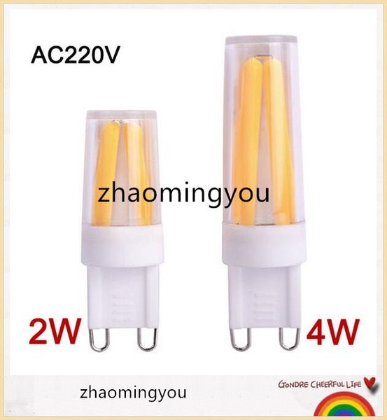 YON Regulable G9 LED Lámpara 220V Mini LED G9 Bombilla de filamento 2w 4W G9 Bombilla Luz de araña de alta calidad Cálido / frío Blanco