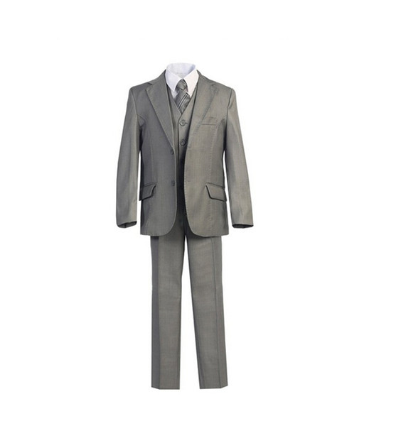 Hot sale boy suits fashion contracted two button boy tuxedos high qulity three-piece boys tuxedos formal occasion(jacket+pants+vest)