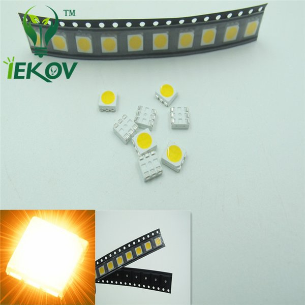 1000pcs 5050 PLCC-6 Yellow LED SMD/SMT 3-CHIPS Ultra Bright Light Emitting Diodes SMD Chip lamp beads For automotive Bike DIY