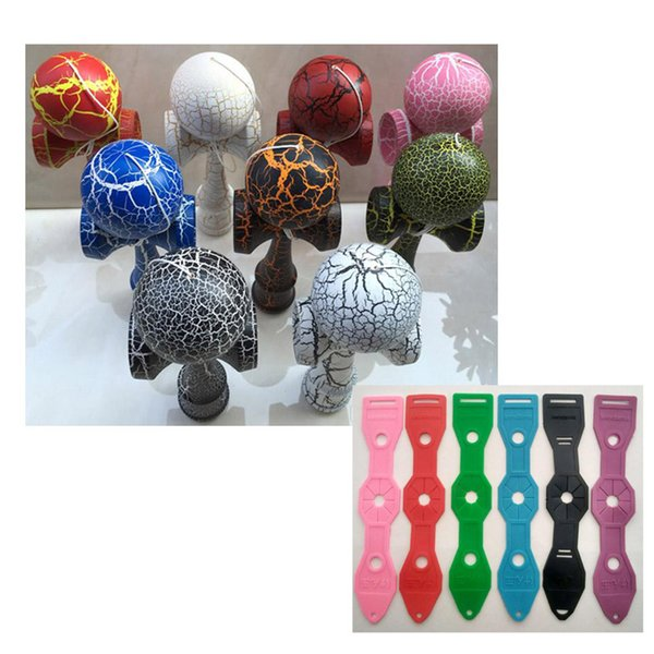 KENDAMA + holder,new hot full cracked kendama balls crack ball crack handle games toys gifts for all ages