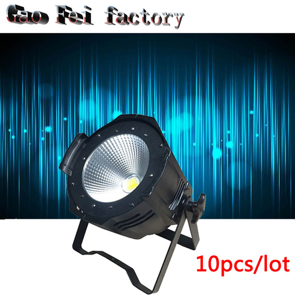 10Pack 100W COB Led Par Cans Tyan shine DMX 512 Control Sound/Auto/Strobe Function Barndoor Equipped