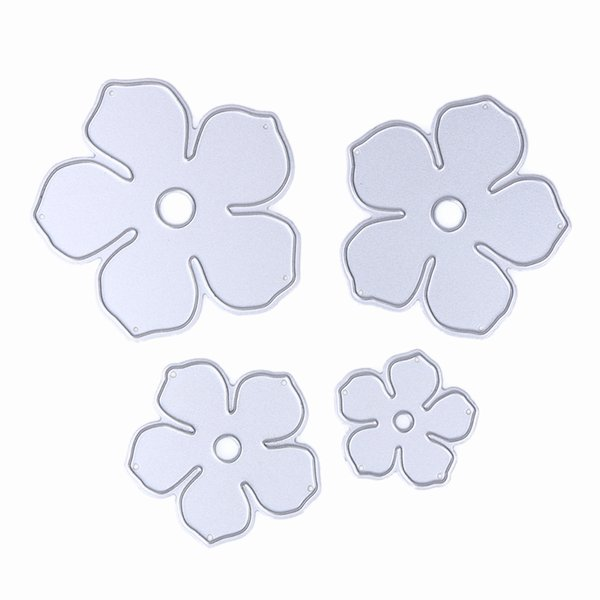4pcs/set Pretty Flowers Metal Cutting Dies for DIY Scrapbooking Stencil Paper Cards Decorative Craft Template Tool
