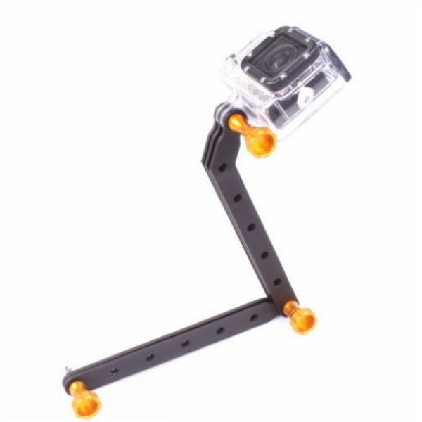 CNC Aluminum Alloy Extension Arms Gopro Mount Screw Set For Gopro Hero6 black Hero 5 4/3+/3/2/1 Camera Multi-color Free Shipping