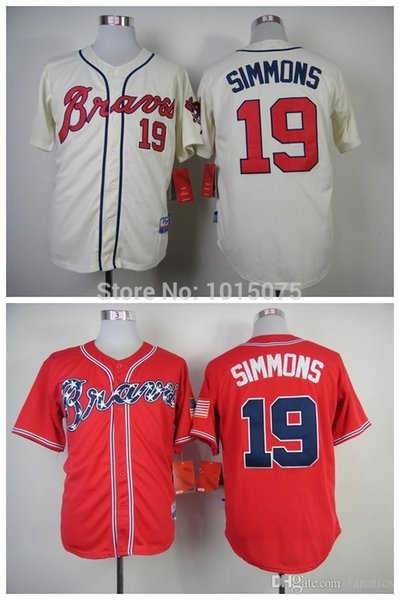 2015 Fashion New Atlanta Braves Jerseys 2014 NEW 19 Andrelton Simmons Jersey  Red ...