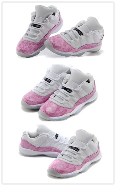 Nike Air Jordan Retro Shoes Günstige Großhandel neue 11 Low Pink Snakeskin Womens Basketballschuhe GS Hohe Qualität Sportschuhe Heißer Verkauf Billig Kostenloser Versand