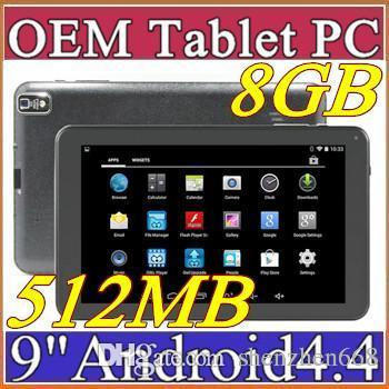 """top popular 2016 9"""" Inch Quad Core Android 4.4 Tablet PC Actions Dual Camera 512MB 8GB Capacitive Touch Screen 1.2GHZ WIFI 9"""" Tablet Pc B-9PB 2019"""