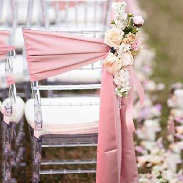 Grosshandel Einfache Stuhl Scharpe Fur Romantische Hochzeiten Satin Ohne Blumen Stuhlhussen Nach Mass Fabrik Verkauf 2016 New Gunstige Hochzeit
