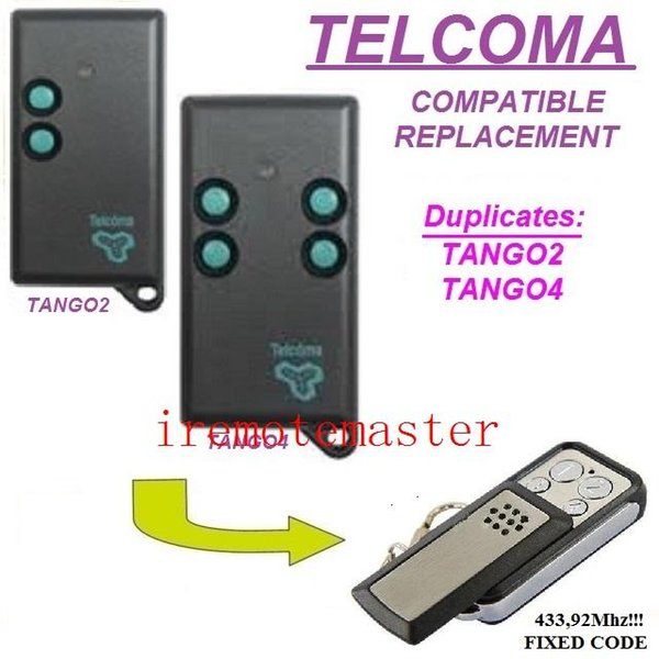 TELCOMA TANGO2/TANGO4 remote control replacement transmitter